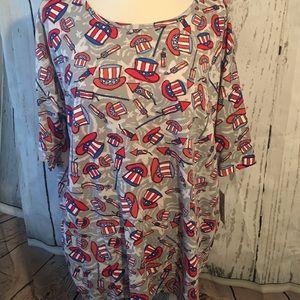 Medium vintage Lularoe Americana Irma